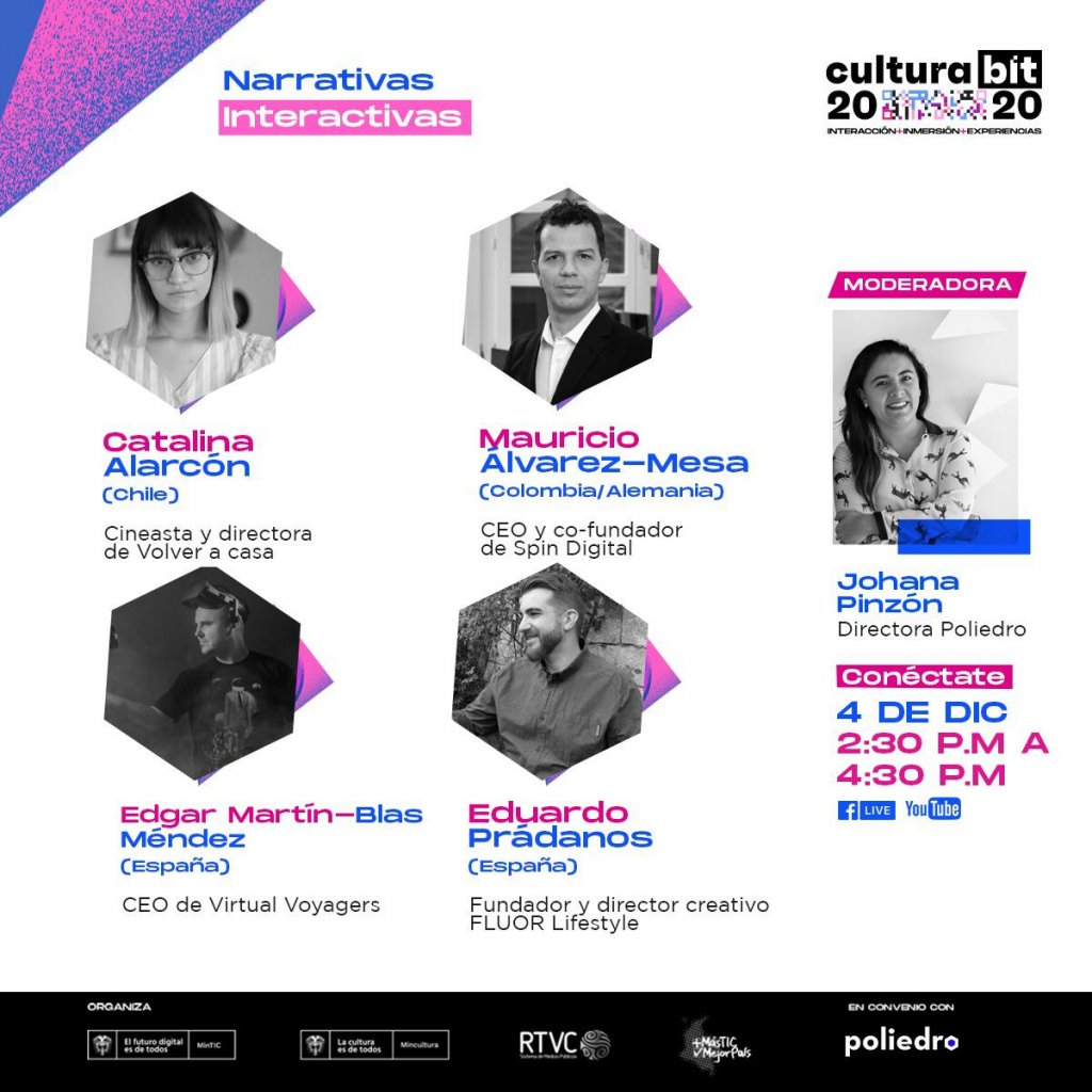Interactive Narratives panel at Cultura BIT festival